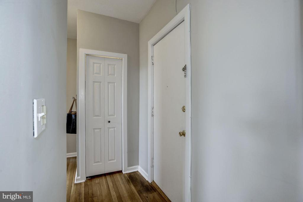 Entrance & roomy hall closet - 4120 14TH ST NW #44, WASHINGTON