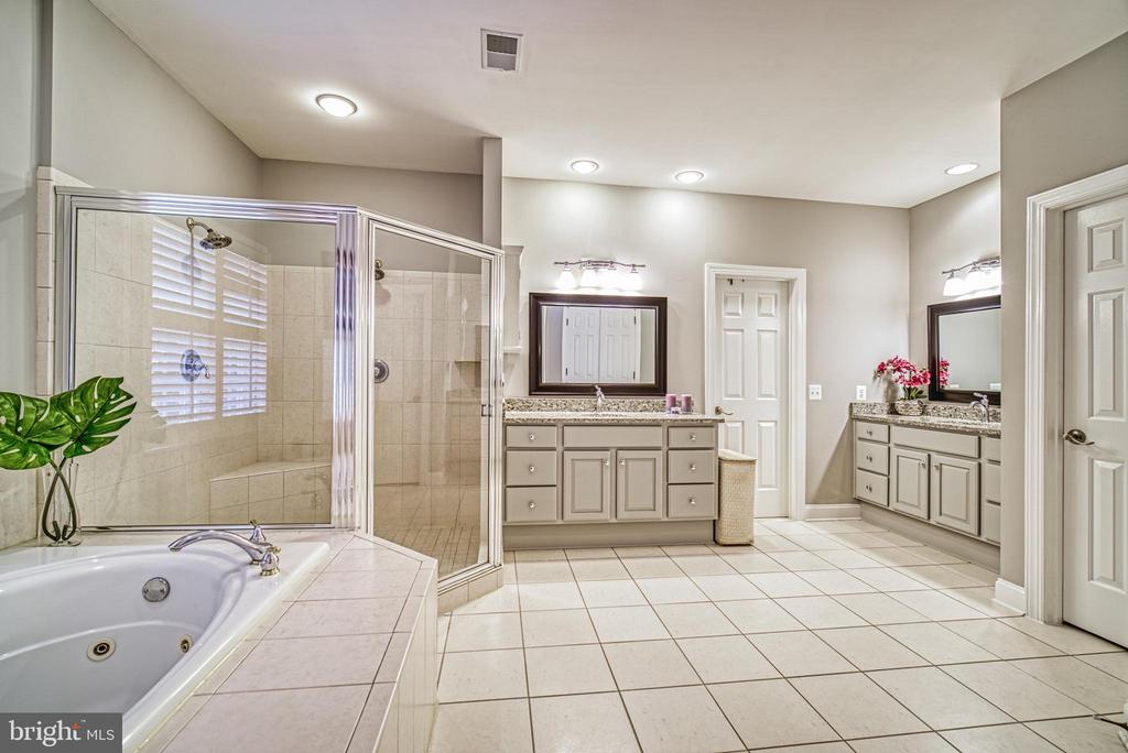 Separate sink areas, jetted tub & separate shower - 2704 SILKWOOD CT, OAKTON