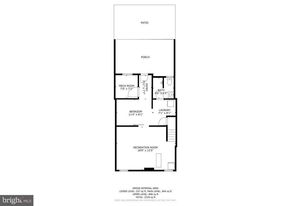 Lower Level Floor Plan - 4604 9TH ST NW, WASHINGTON
