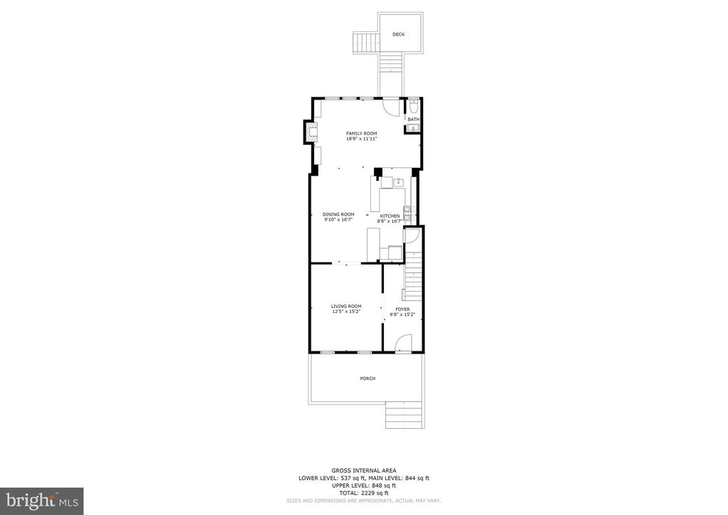 Main Level Floor Plan - 4604 9TH ST NW, WASHINGTON