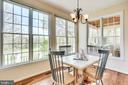 Breakfast room with spectacular view - 19862 LA BETE CT, ASHBURN