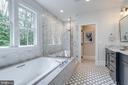 Marble Bathroom with Tree Top Views - 4514 25TH RD N, ARLINGTON