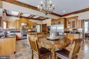 Open Gourmet Kitchen, Eat-In Breakfast Area - 7780 KELLY ANN CT, FAIRFAX STATION