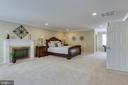 Spacious Master Bedroom w/ Fireplace - 7780 KELLY ANN CT, FAIRFAX STATION