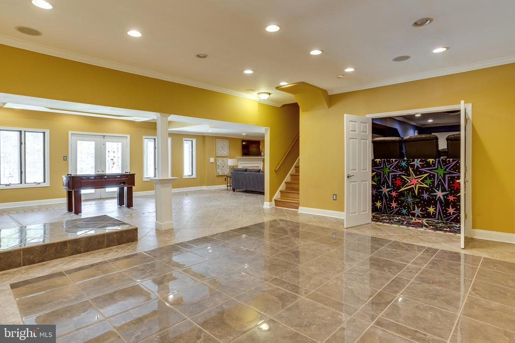 Dance Floor/Entertaining Space in Basement - 7780 KELLY ANN CT, FAIRFAX STATION