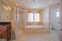 Luxurious master bath - 15 SMELTERS TRACE RD, STAFFORD