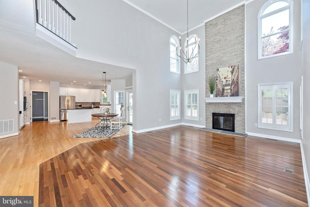 Vaulted ceilings and modern fireplace - 6301 IVERSON TER N, FREDERICK