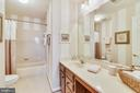 Upper level hall bath! Updated ceramic tile floor! - 20756 LAPLUME PL, ASHBURN