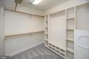 Master closet one with laundry chute/shoe racks - 42 LIGHTFOOT DR, STAFFORD