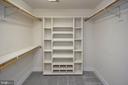 Master bedroom closet 2! Shoe storage - 42 LIGHTFOOT DR, STAFFORD