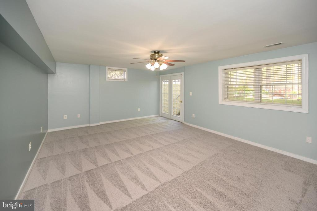 Large second area in basement with door to yard - 42 LIGHTFOOT DR, STAFFORD