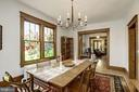 Dining room with beautiful stained glass windows - 3819 LIVINGSTON ST NW, WASHINGTON