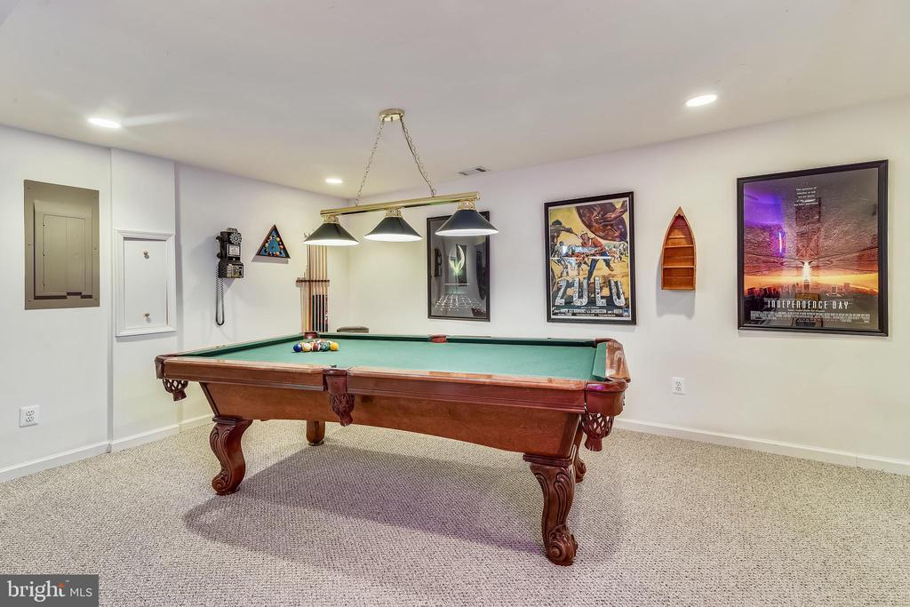 Huge recreation room! Pool table stays! - 20756 LAPLUME PL, ASHBURN