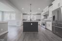 Gourmet kitchen featuring large island - 8604 NORFOLK AVE, ANNANDALE