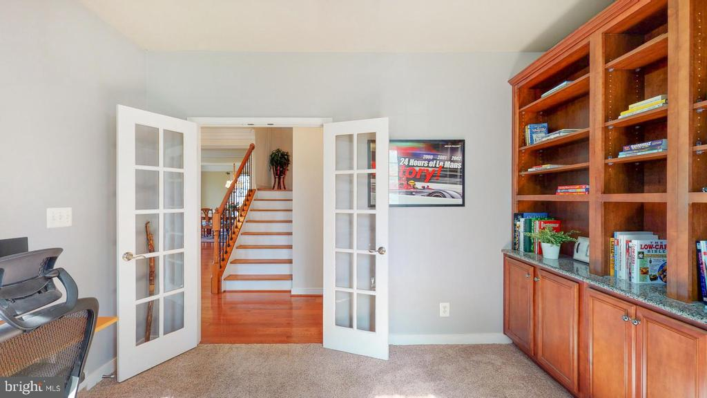 Office with French doors - 31 CRAWFORD LN, STAFFORD