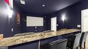 Theater room with all equipment conveying - 31 CRAWFORD LN, STAFFORD