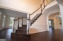 GRAND STAIR CASE IN FOYER - 5903 COPPER MILL DR, FREDERICKSBURG