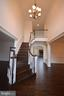 GRAND FOYER ELEGANT OAK STAIRCASE - 5903 COPPER MILL DR, FREDERICKSBURG