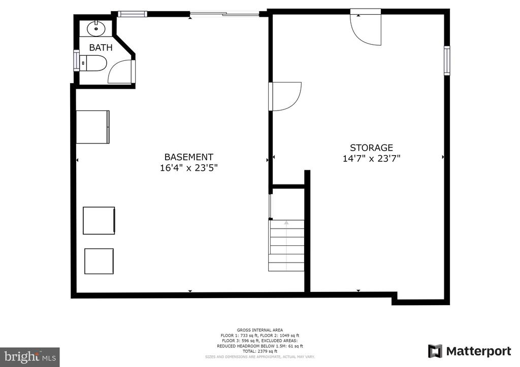 Basement Floor Plan - 1249 MAPLE RD, ARNOLD