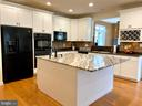 Stunning granite island with room for chairs! - 31 CRAWFORD LN, STAFFORD