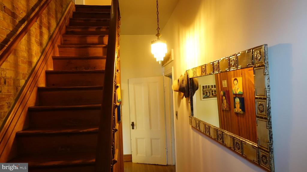 A central stairway  to the upper home - 900 SOUTH CAROLINA AVE SE, WASHINGTON