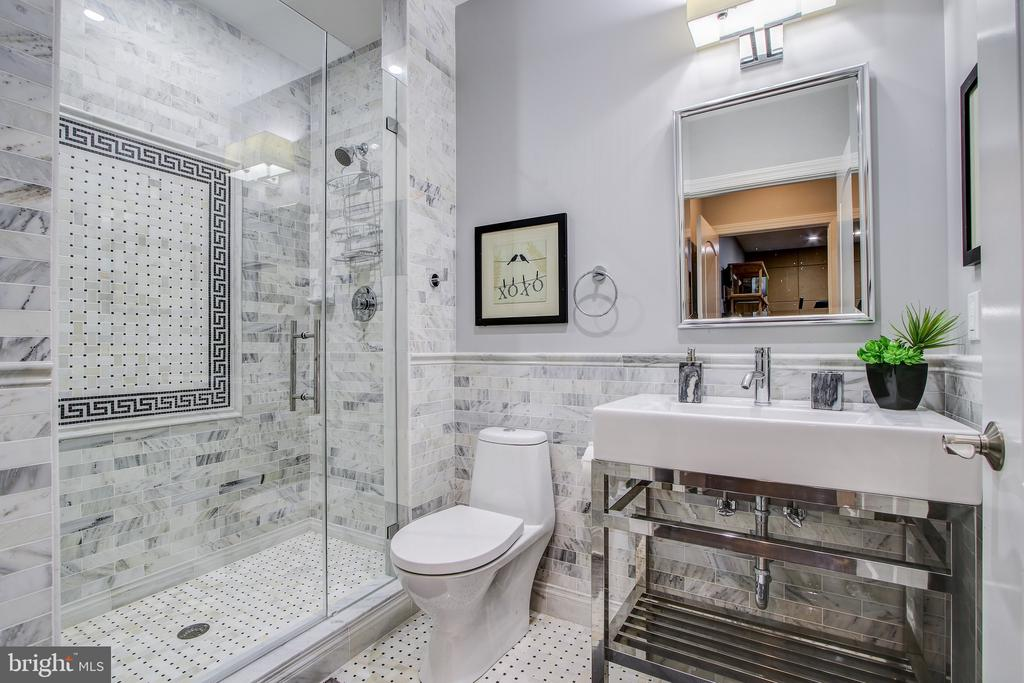 Basement bathroom with high end finishes. - 47652 PAULSEN SQ, POTOMAC FALLS