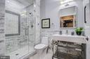 Basement bathroom with high end finishes. - 47652 PAULSEN SQ, POTOMAC FALLS