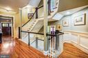 Main Level Staircase - 27 E MASONIC VIEW AVE, ALEXANDRIA