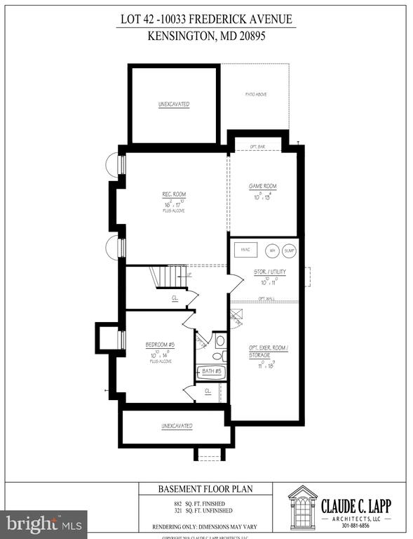 Lower Level Floor Plan - 10033 FREDERICK AVE, KENSINGTON