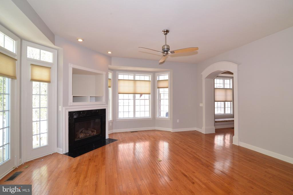 Family Room with Gas Fireplace. - 18229 CYPRESS POINT TER, LEESBURG