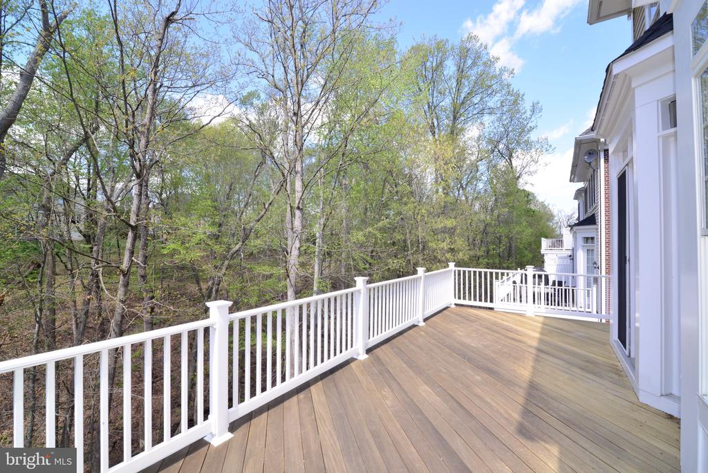 Deck Spans the Back of Home. - 18229 CYPRESS POINT TER, LEESBURG