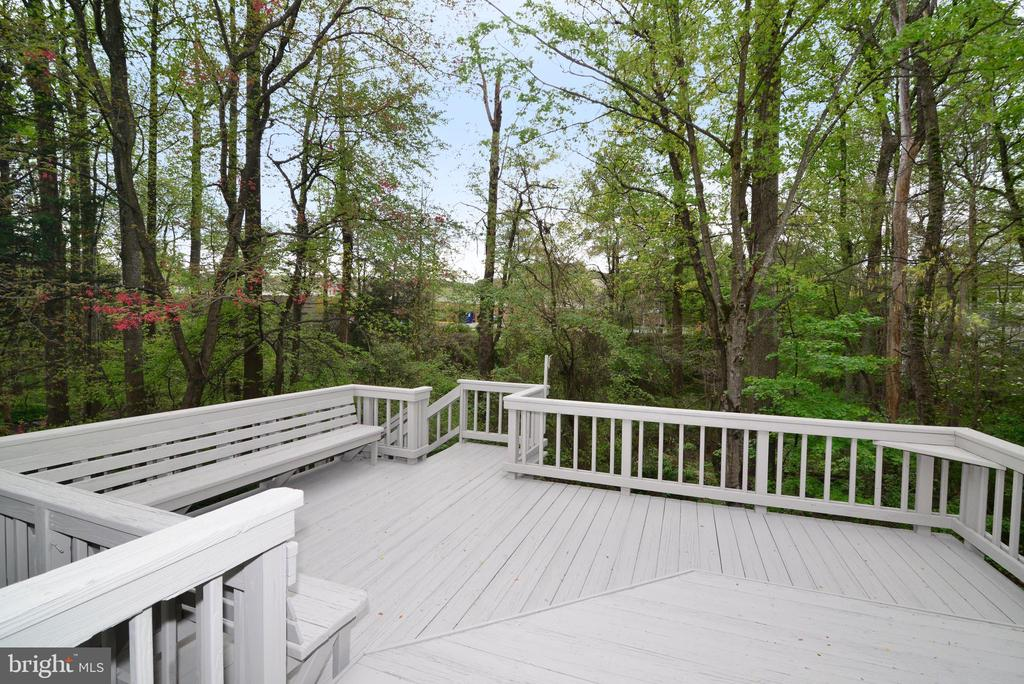 Deck with View - 11612 OLD BROOKVILLE CT, RESTON