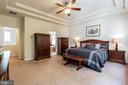 Elegant tray ceilings in master bedroom - 17 WAGONEERS LN, STAFFORD