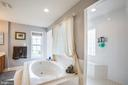 Garden tub with walk in shower behind - 12504 SINGLE OAK RD, FREDERICKSBURG
