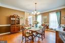 Formal dining room - 12504 SINGLE OAK RD, FREDERICKSBURG