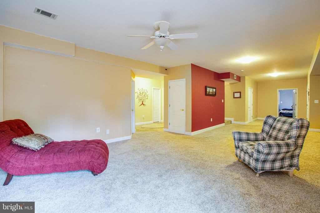 Recreation room in basement - 12504 SINGLE OAK RD, FREDERICKSBURG