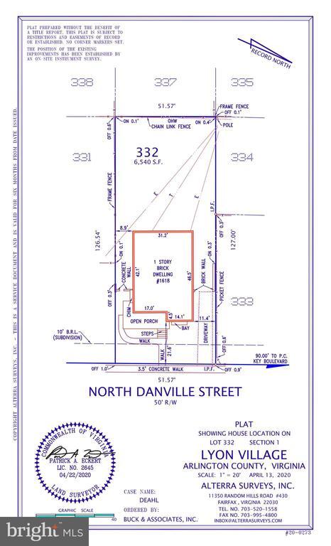 PLAT - 1618 N DANVILLE ST, ARLINGTON