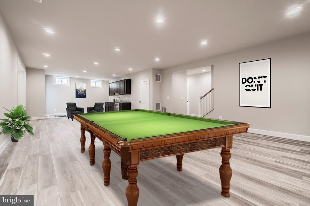 LL has low maintenance flooring and space to play - 8604 NORFOLK AVE, ANNANDALE