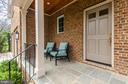 Flagstone front porch   Williamsburg inspired - 2700 BEECHWOOD PL, ARLINGTON
