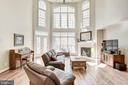 2 story Family rom with coffered ceiling - 40989 GRENATA PRESERVE PL, LEESBURG