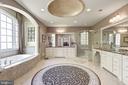 Master bath with seamless shower & soaking tub - 40989 GRENATA PRESERVE PL, LEESBURG