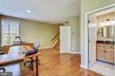 An Updated Half Bath compliments the Lower Level - 1911 LOGAN MANOR DR, RESTON