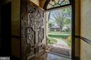 Custom Carved Front Door with Transom Window - 3905 BELLE RIVE TER, ALEXANDRIA