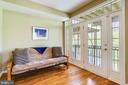 Family Room French Doors, Transom, Balcony - 1911 LOGAN MANOR DR, RESTON