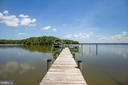 Private pier w/ 16k lb boat lift and 4ft MLW depth - 15270 HATTON LANDING DR, NEWBURG