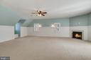 Master Bedroom with propane Fireplace - 24020 LACEYS TAVERN CT, ALDIE