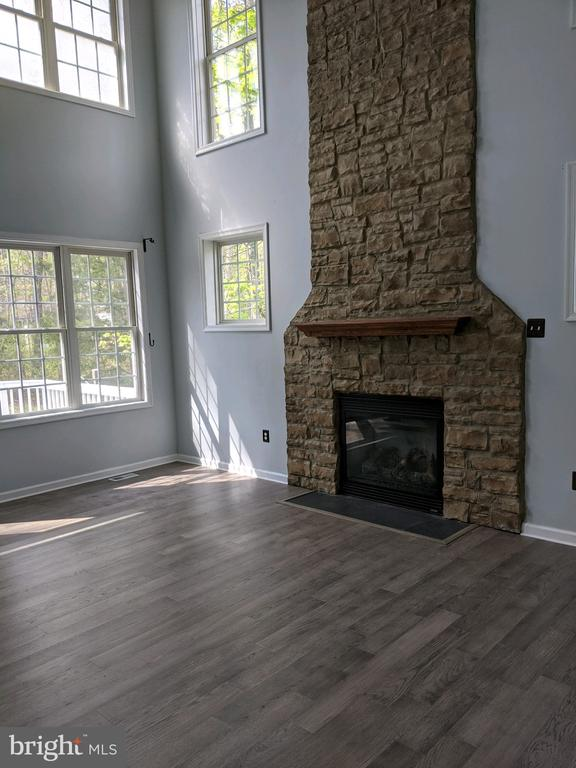 Living room with fireplace - 109 PARLIAMENT ST, LOCUST GROVE