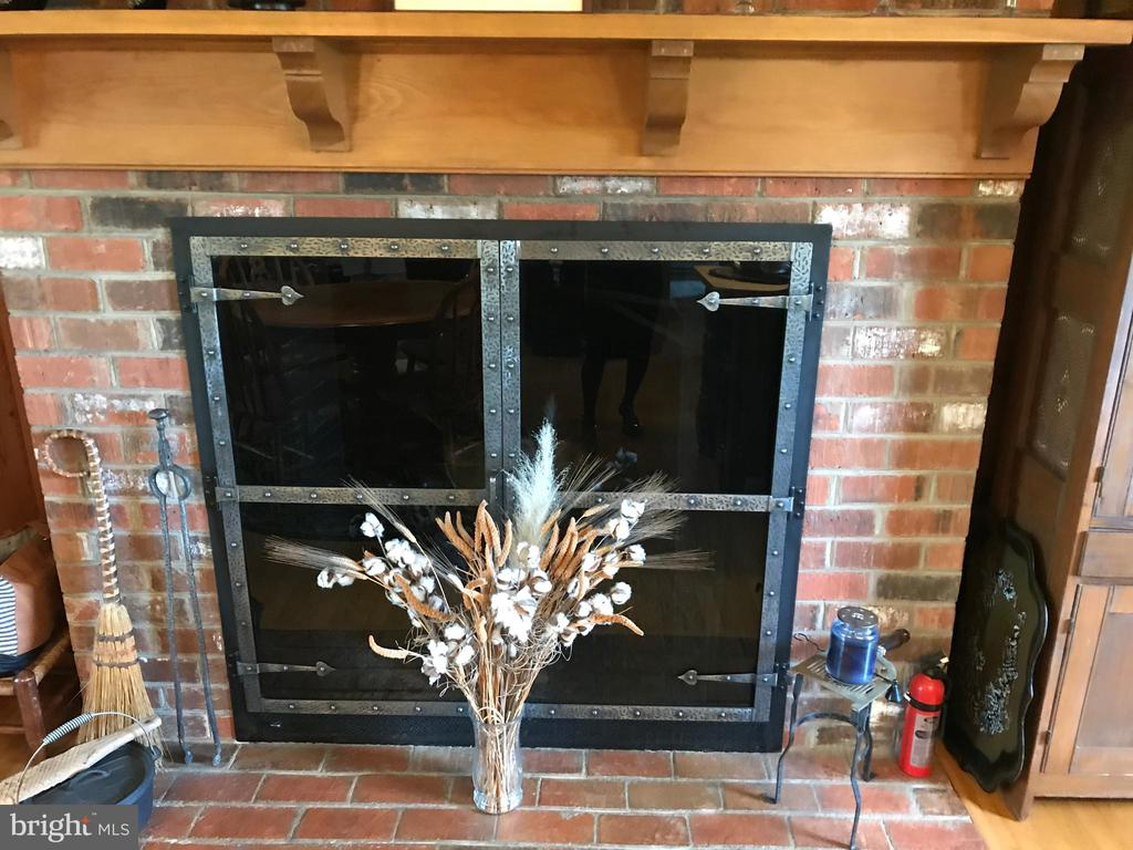 Great fireplace with views of family room kitchen - 107 LAFAYETTE AVE, BOWLING GREEN
