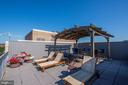 Shared Rooftop Deck w/ Pergola and Lounge Chairs - 1711 MASSACHUSETTS AVE NW #214, WASHINGTON