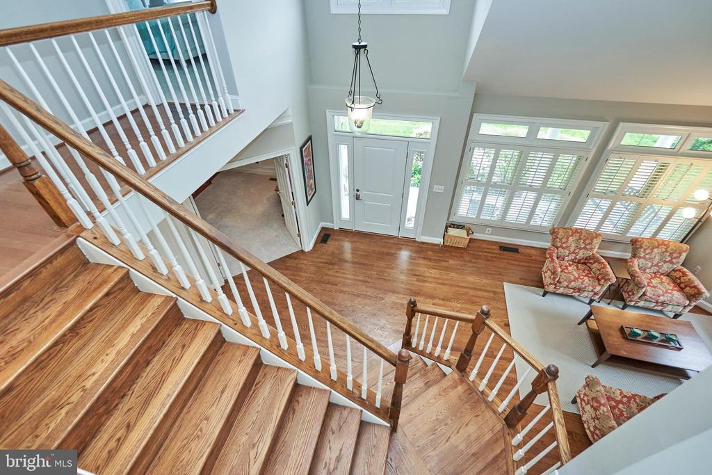View of Foyer from Upper Level - 5809 MAGNOLIA LN, FALLS CHURCH